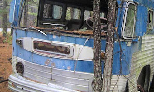 So this guy finds a bus in the woods…