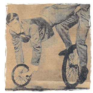 It's unicycles or Canasta, or stay home and watch the Alan Brady show.
