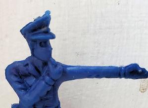 Man in blue doing a crackerjack job